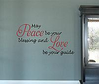 Love And Peace Wall Decal