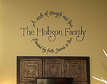 Family Circle Bonded By Faith Wall Decal