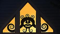 Curlz Window Monster Wall or Window Decal