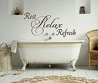 Rest Relax Refresh Wall Decal
