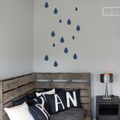 Raindrops Pack Wall Decal