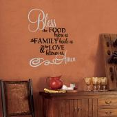 Bless the Food Wall Decal