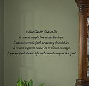 Cancer Cannot Do Wall Decals