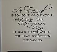 Friends Know the Song Wall Decal