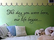 The Day You Were Born Wall Decal