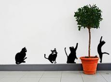 Playful Kitties Wall Decal