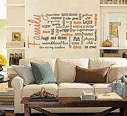 Family Names Subway Art Wall Decal