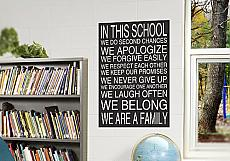 In This School Wall Decal Subway Art