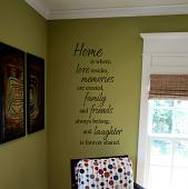 Vertical Home Is Where Wall Decal