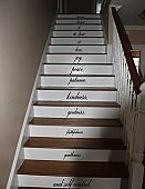Galations 5:22 Stair Decal