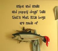 Little Boys Are Made Of Wall Decal