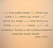 No Greater Commandment Wall Decals