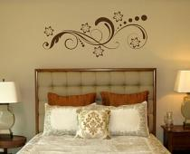 Swirl & Flower Dot Embellishment Wall Decal