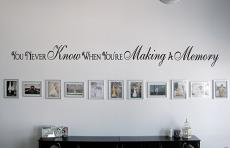 Making A Memory Wall Decal