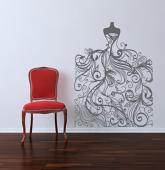 Wedding Gown Wall Decal