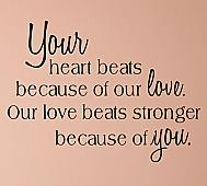 Your Heart Beats Wall Decal