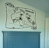 Map of Neverland Wall Decal