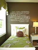 Never Ever Give Up Wall Decal