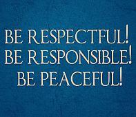Respectful Responsible Peaceful Wall Decal