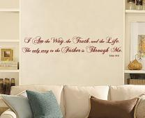 Way Truth Life Wall Decal