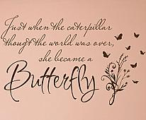 She Became A Butterfly Wall Decals