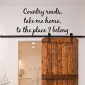 Country Roads Wall Decal