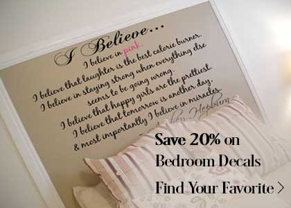 Bedroom Decals on Sale