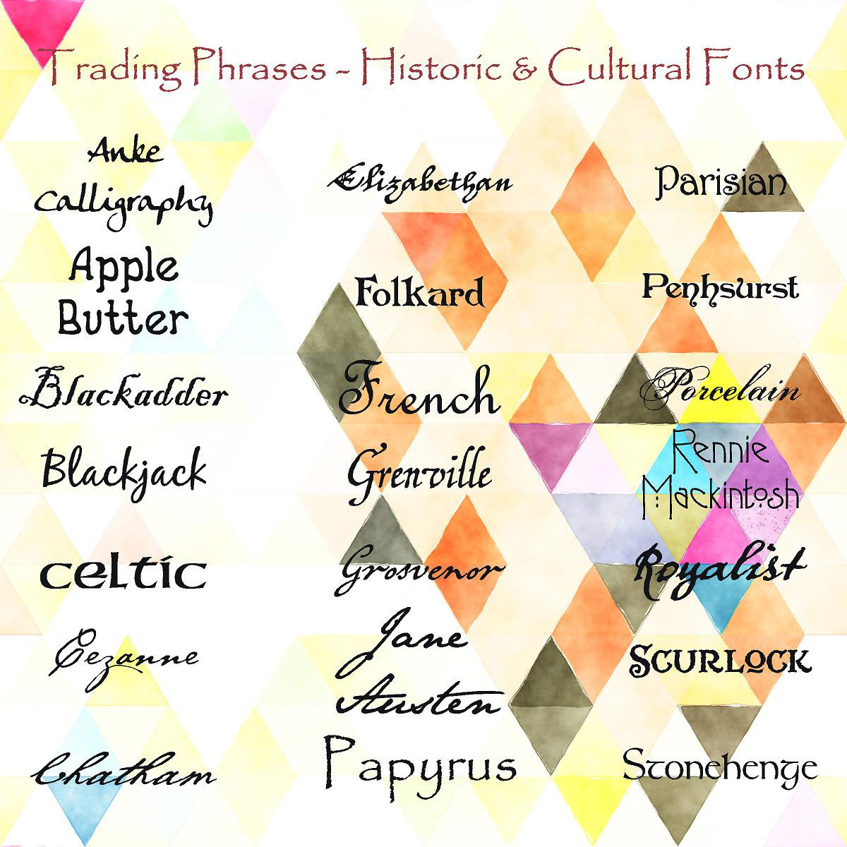 Trading Phrases Historic & Cultural Fonts